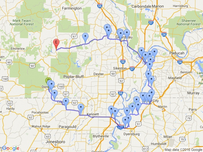 5 States - New Route 2 Map